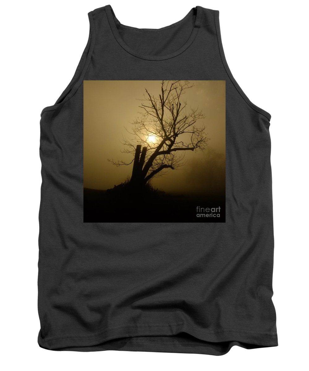 Fog Tank Top featuring the photograph Richmond Park 12 by Simon Kennedy