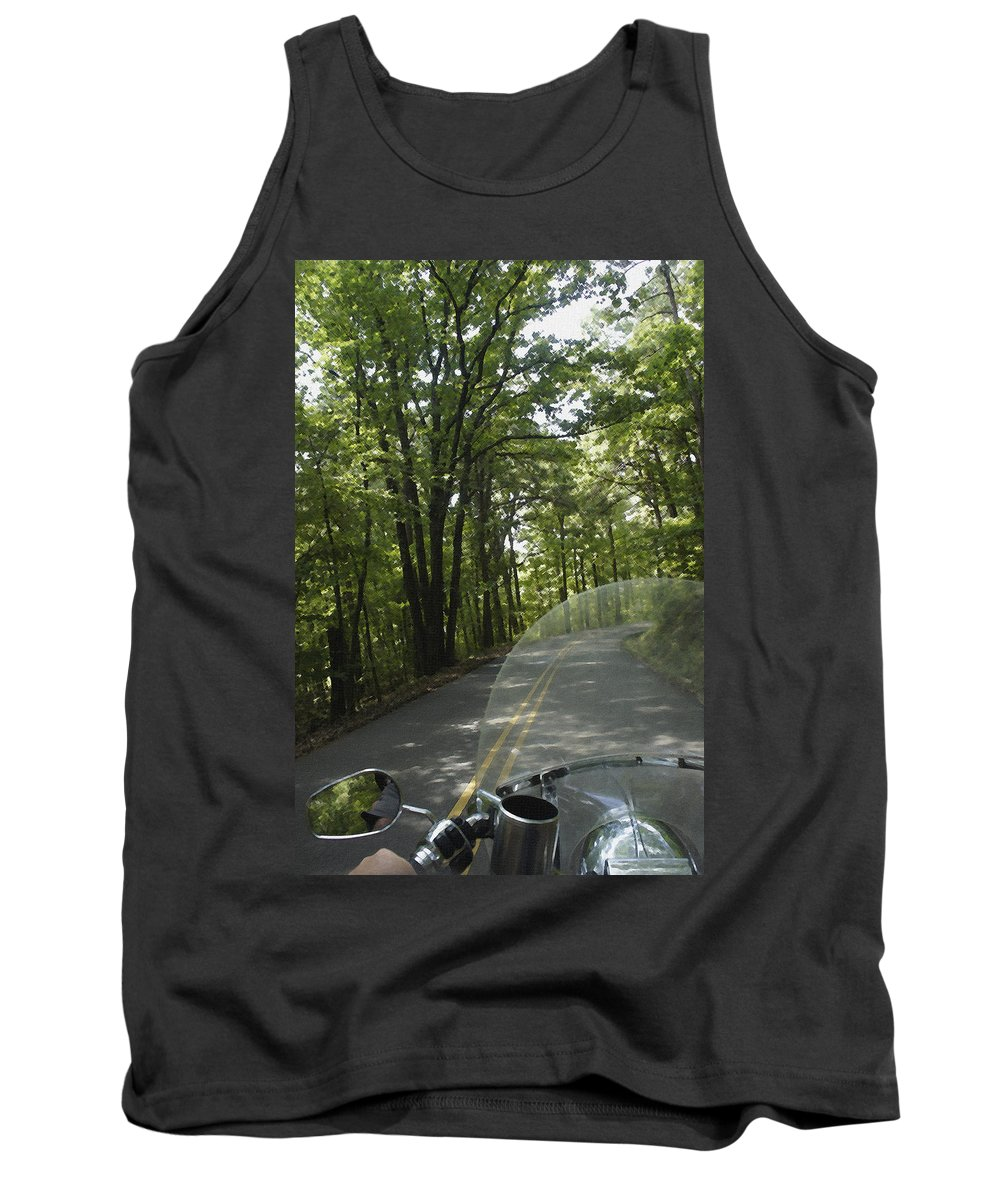 Deals Gap Tank Top featuring the photograph Riding The Woods Of Alabama by Laurie Perry