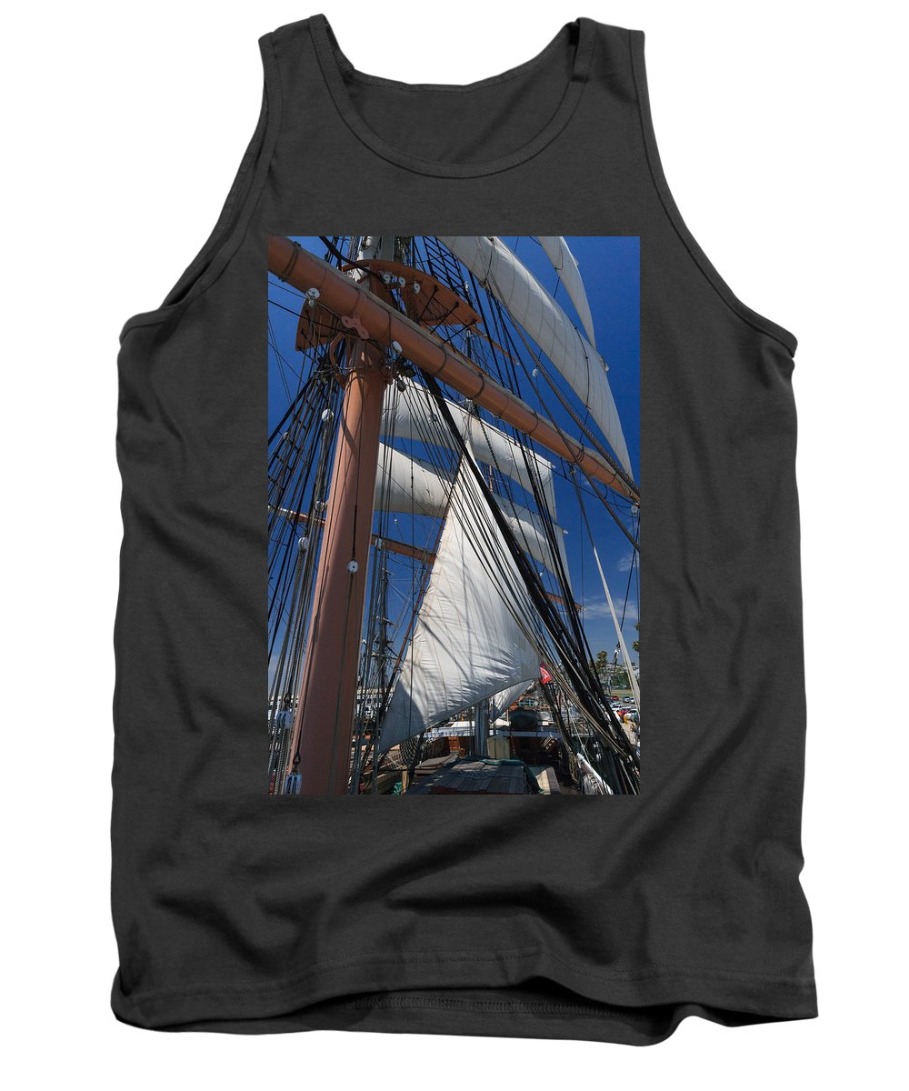 Mast Tank Top featuring the photograph Rigging All Over by Scott Campbell