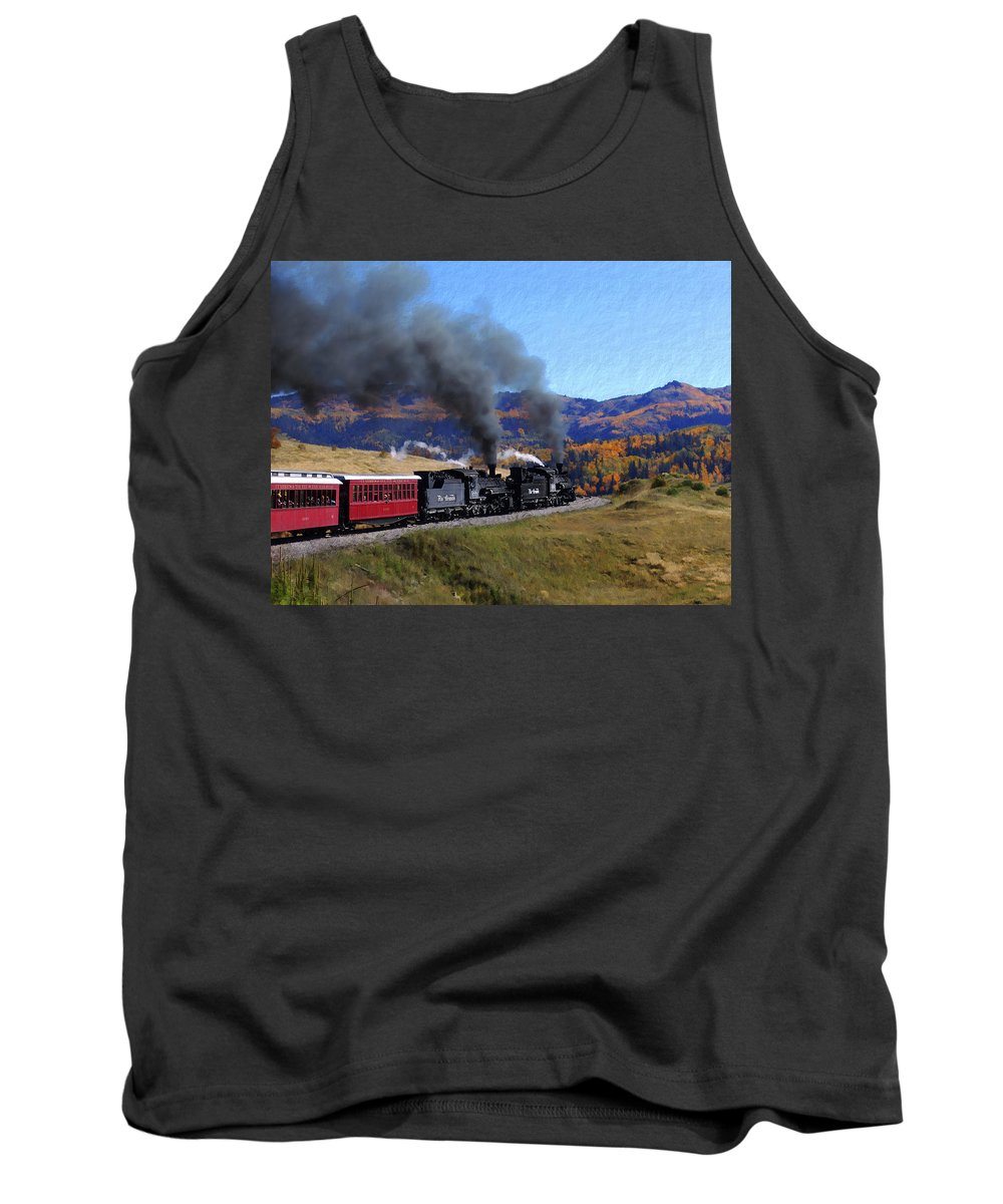 Railroad Tank Top featuring the photograph Rio Grande 488 And 489 by Kurt Van Wagner