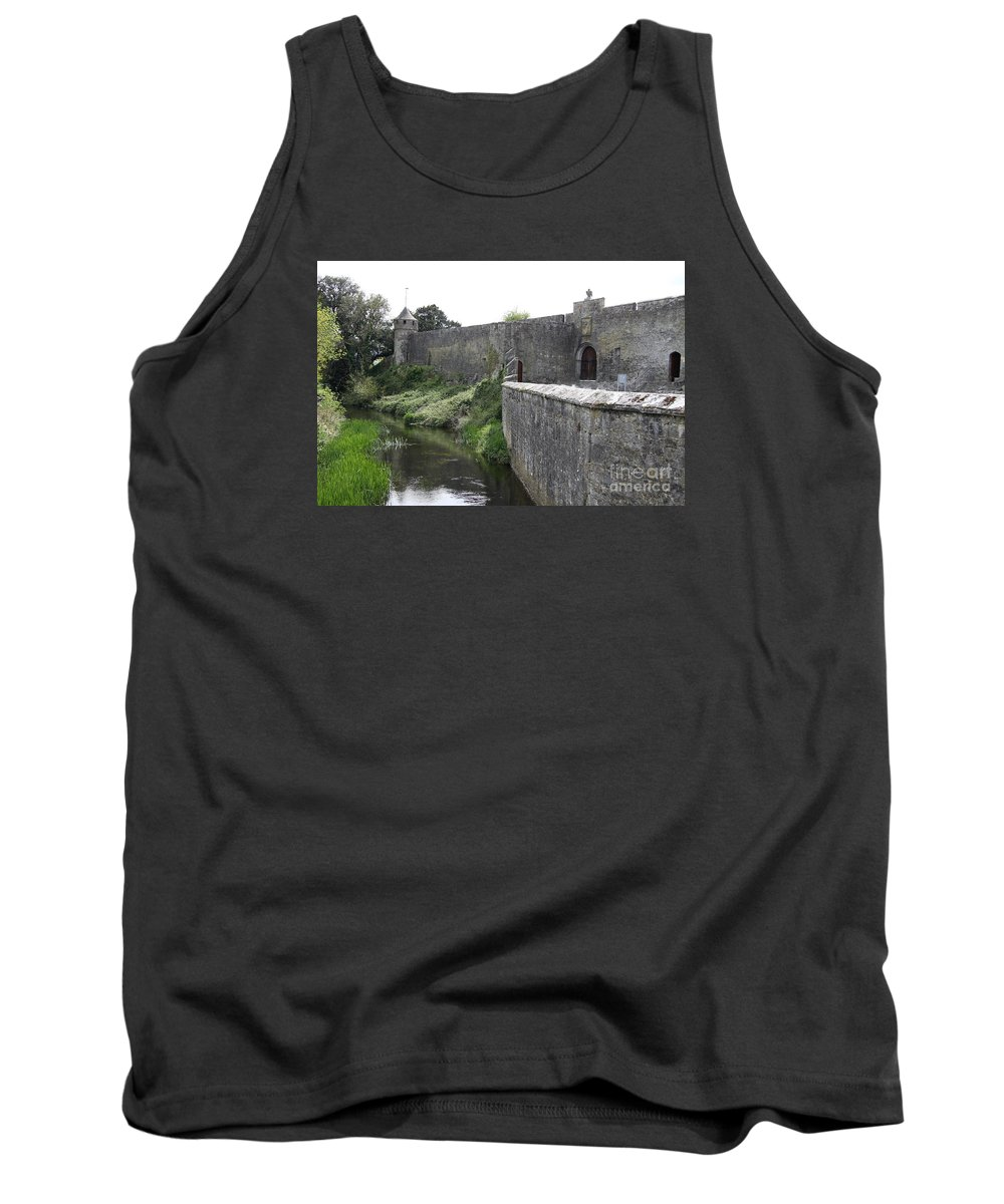 Cahir Castle Tank Top featuring the photograph River Suir And Cahir Castle by Christiane Schulze Art And Photography