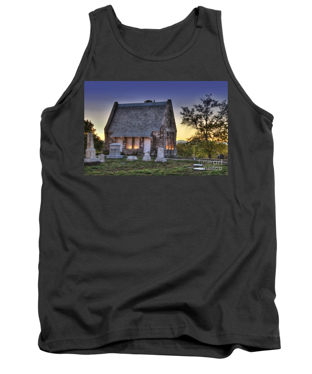 5201 Brighton Boulevard Tank Top featuring the photograph Riverside Cemetery by Juli Scalzi
