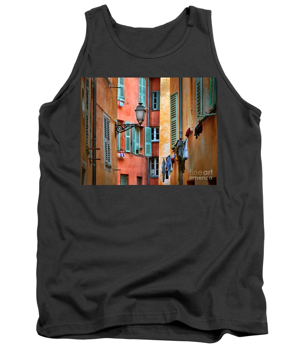 Cote D'azur Tank Top featuring the photograph Riviera Alley by Inge Johnsson