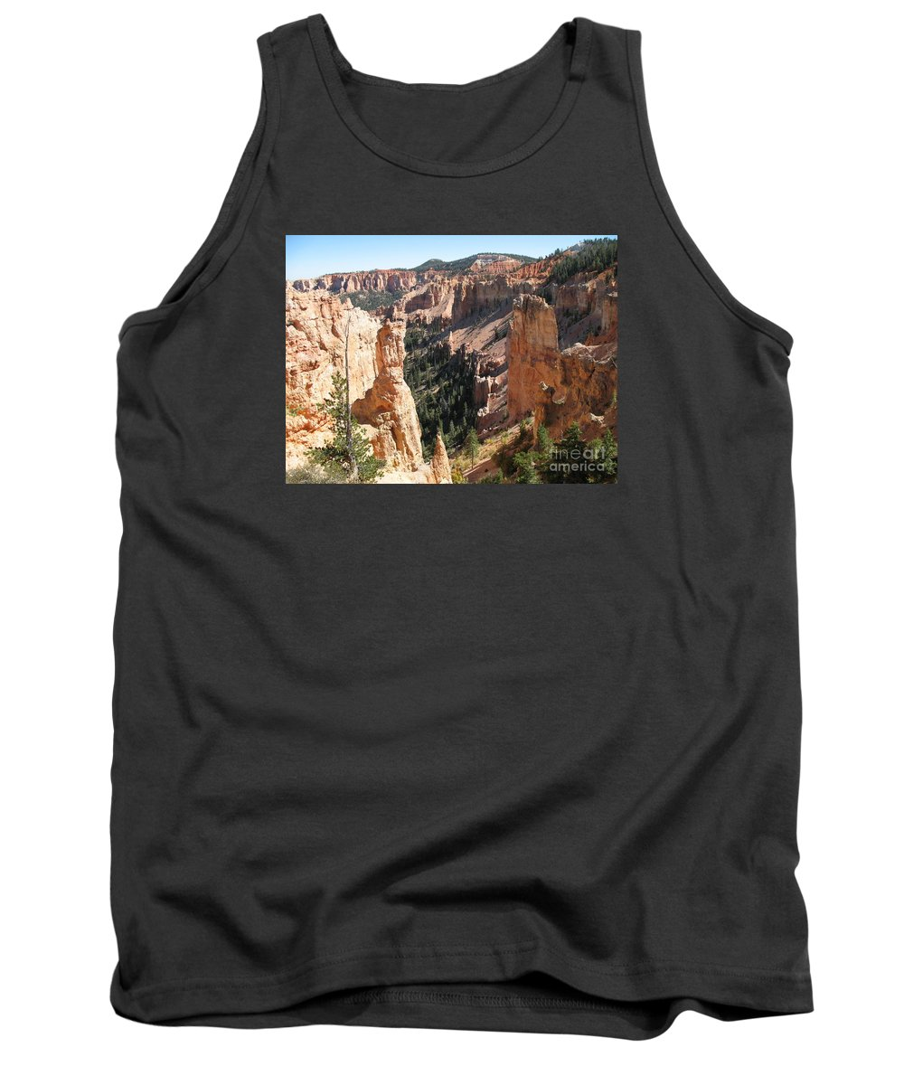 Canyon Tank Top featuring the photograph Rockformation At Bryce Canyon by Christiane Schulze Art And Photography