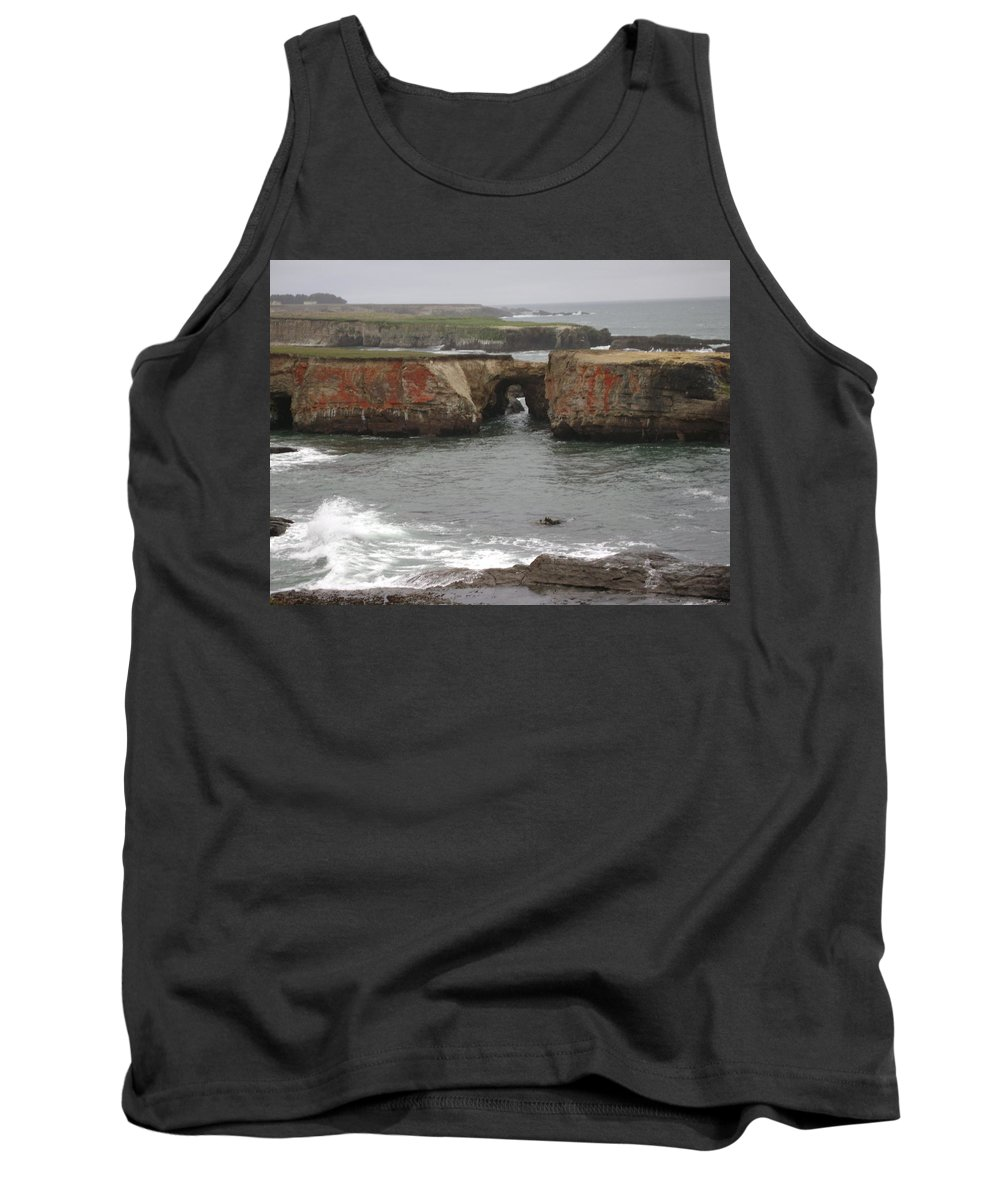 Mendocino Tank Top featuring the photograph Rocky Coast by Mike Niday