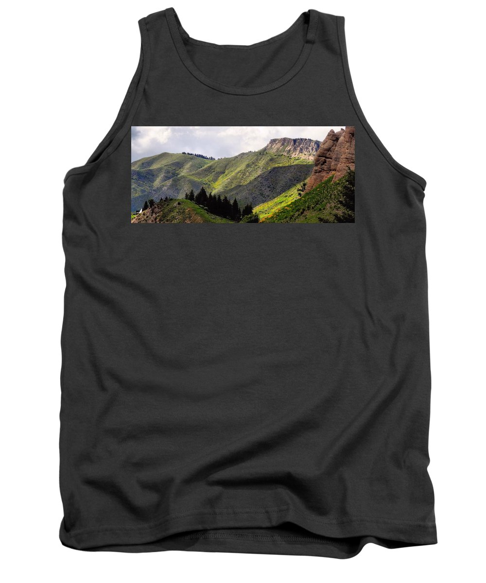 Rolling Hills Tank Top featuring the photograph Rolling Hills by Dan Sproul