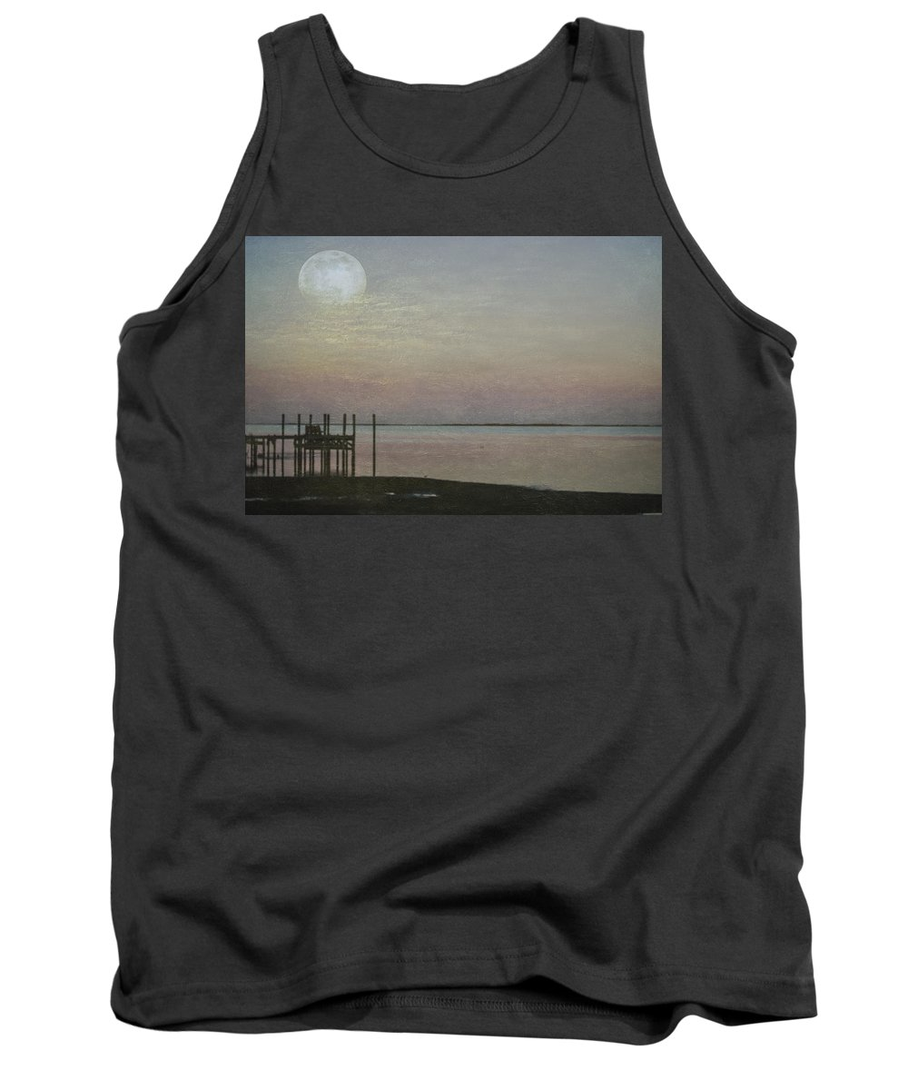 Moon Tank Top featuring the photograph Romancing The Moon by Judy Hall-Folde