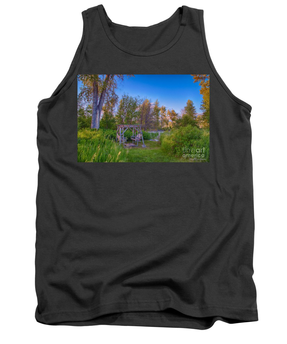 2014 Tank Top featuring the digital art Romantic View By The Methow River by Omaste Witkowski