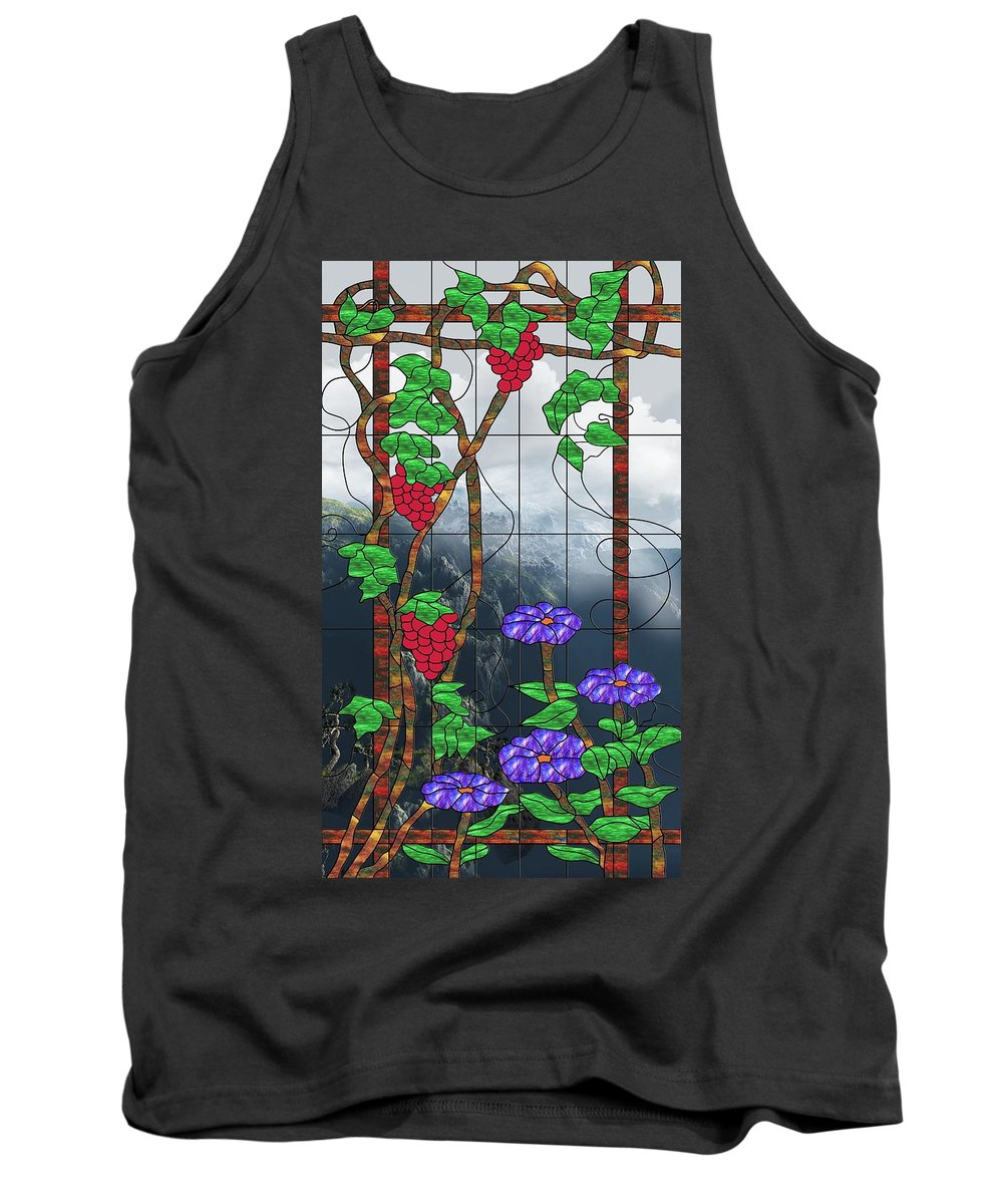 Room With A View Tank Top featuring the mixed media Room With A View by Georgiana Romanovna