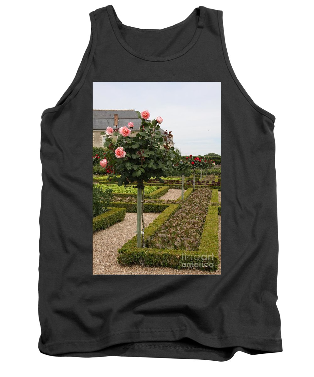 Roses Tank Top featuring the photograph Roses And Salad - Chateau Villandry by Christiane Schulze Art And Photography