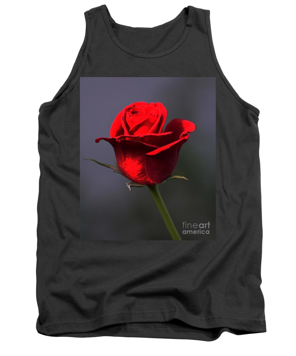 Flower Tank Top featuring the photograph Rosie by Cindy Manero