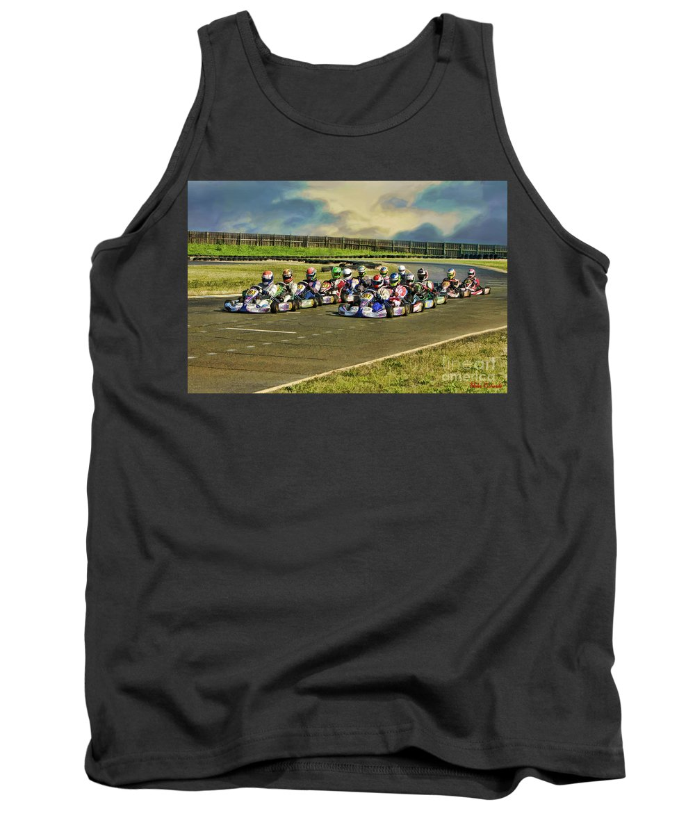 Tank Top featuring the photograph Rotax Challenge Of The Americas Sr. Max Grid by Blake Richards