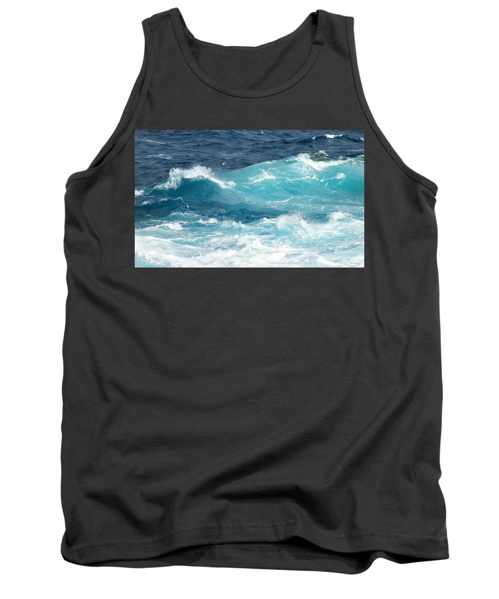 Duane Mccullough Tank Top featuring the photograph Rough Waves 1 Offshore by Duane McCullough