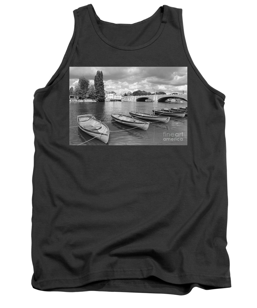 Rowing Boats Thames Uk Hampton Court Tank Top featuring the photograph Rowing Boats by Julia Gavin