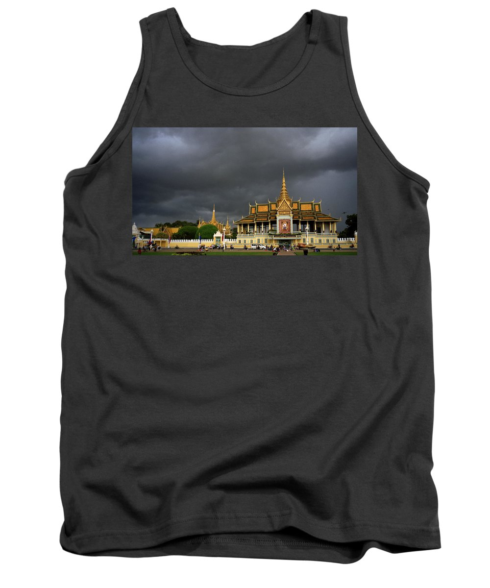 Khmer Tank Top featuring the photograph Royal Palace Cambodia by Shaun Higson