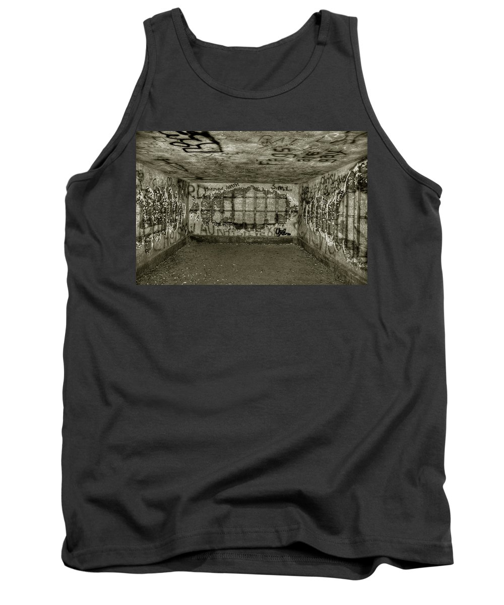 Maine Tank Top featuring the photograph Ruined Bunker by Michael Kirk