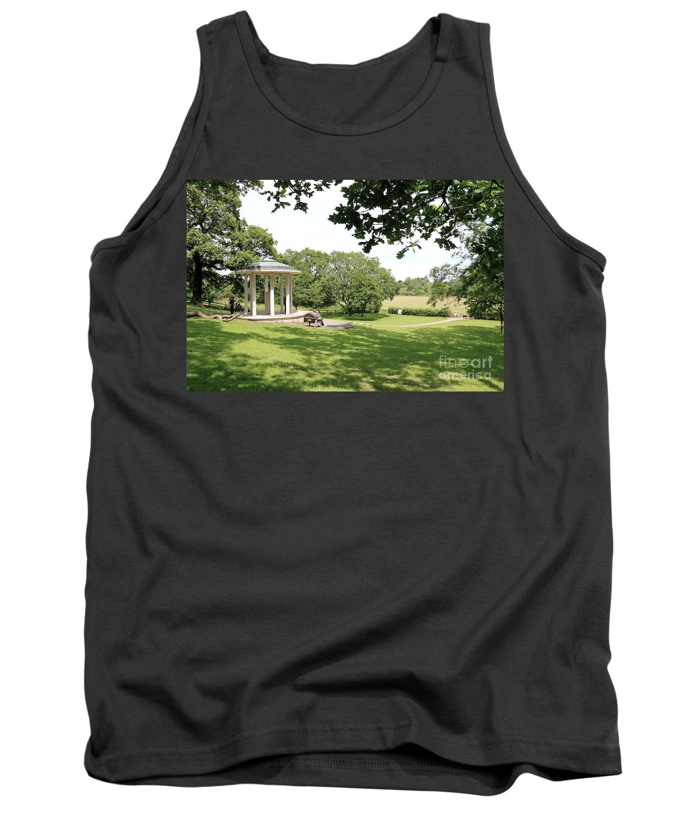 Runneymede Runnymede Surrey Uk Magna Carta Tank Top featuring the photograph Runnymede Surrey Uk by Julia Gavin