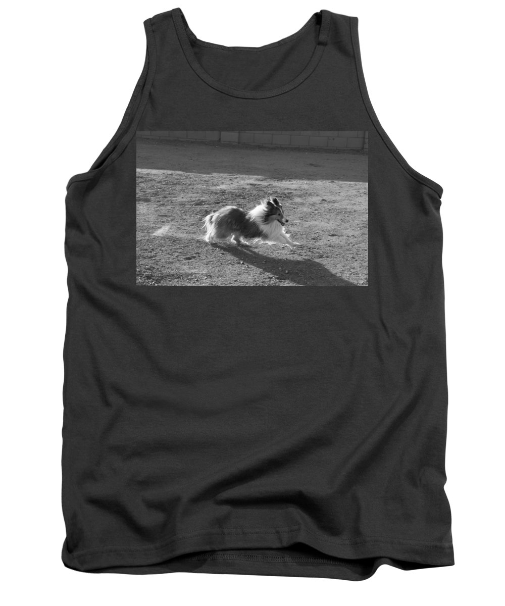 David S Reynolds Tank Top featuring the photograph Running by David S Reynolds