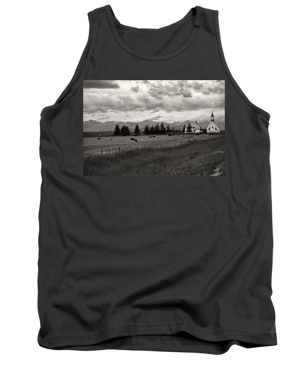 Alberta Tank Top featuring the photograph Rural Church by Roderick Bley