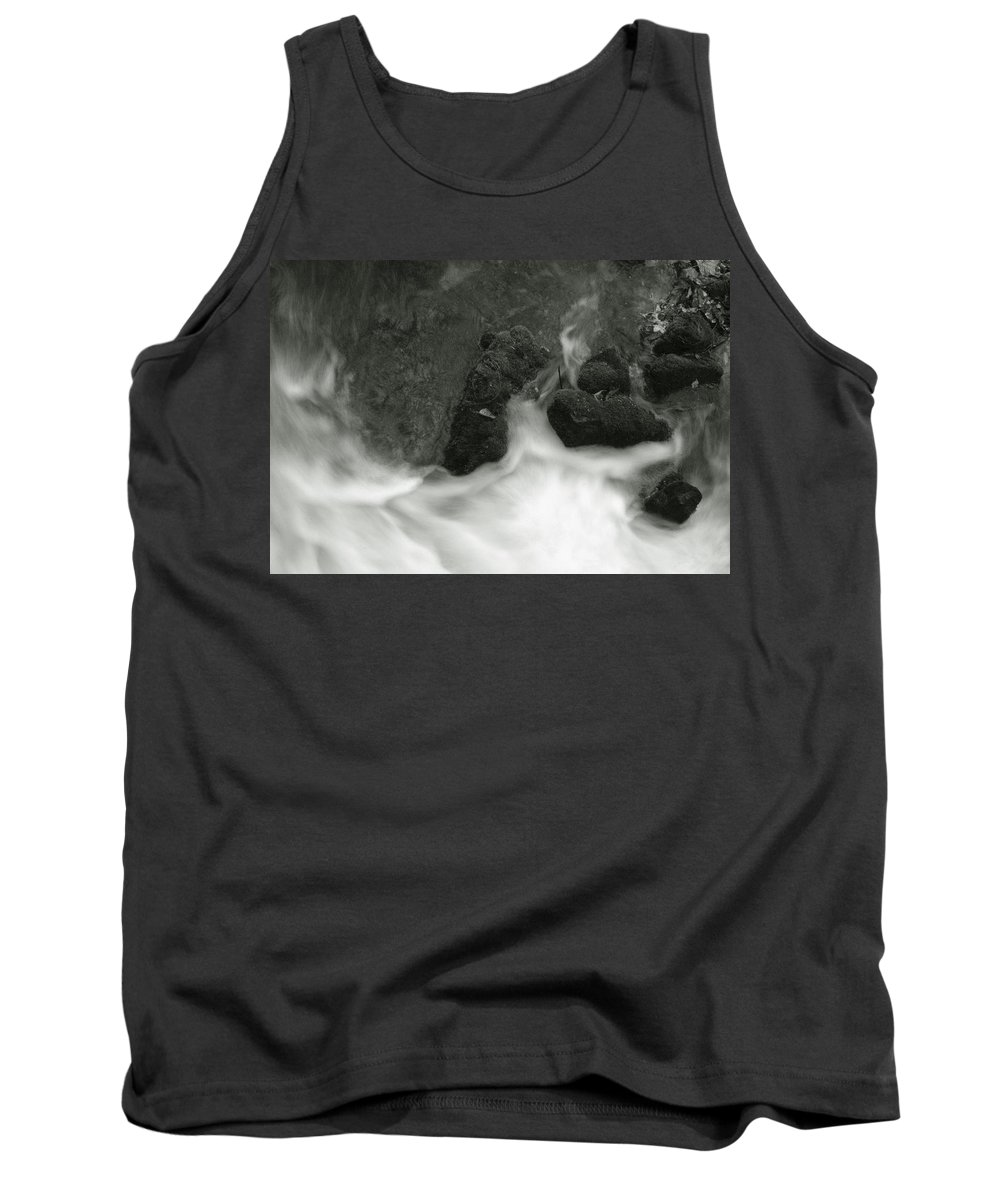 Tank Top featuring the photograph Rush Around The Rocks by Michael Kirk