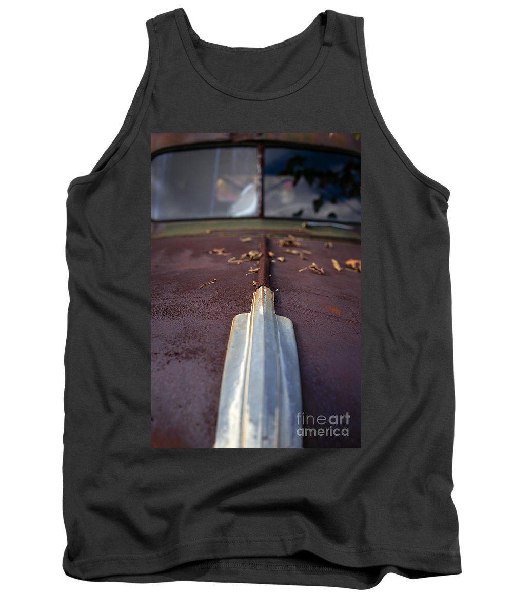 Automobile Tank Top featuring the photograph Rusty Old Car by Edward Fielding