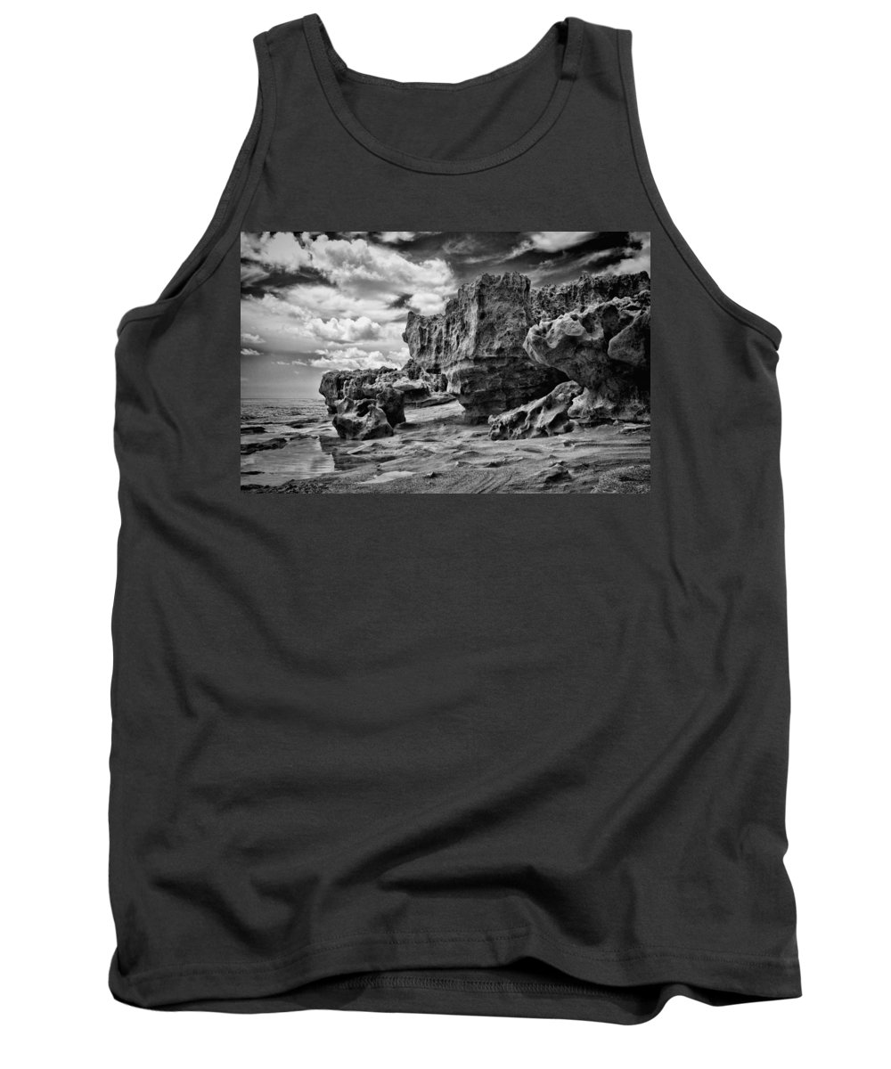 Black Tank Top featuring the photograph Sabellariid Worms Reef - 3 by Rudy Umans