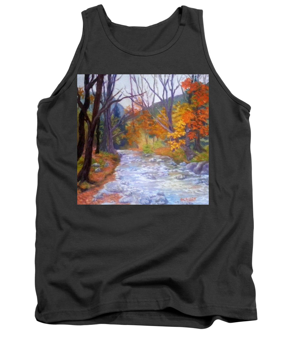 Saco Tank Top featuring the painting Saco Creek by Sharon E Allen