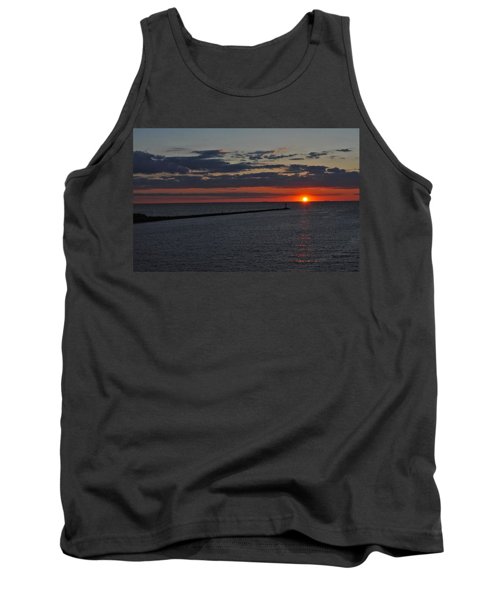 Scenic Tours Tank Top featuring the photograph Safe Harbor by Skip Willits