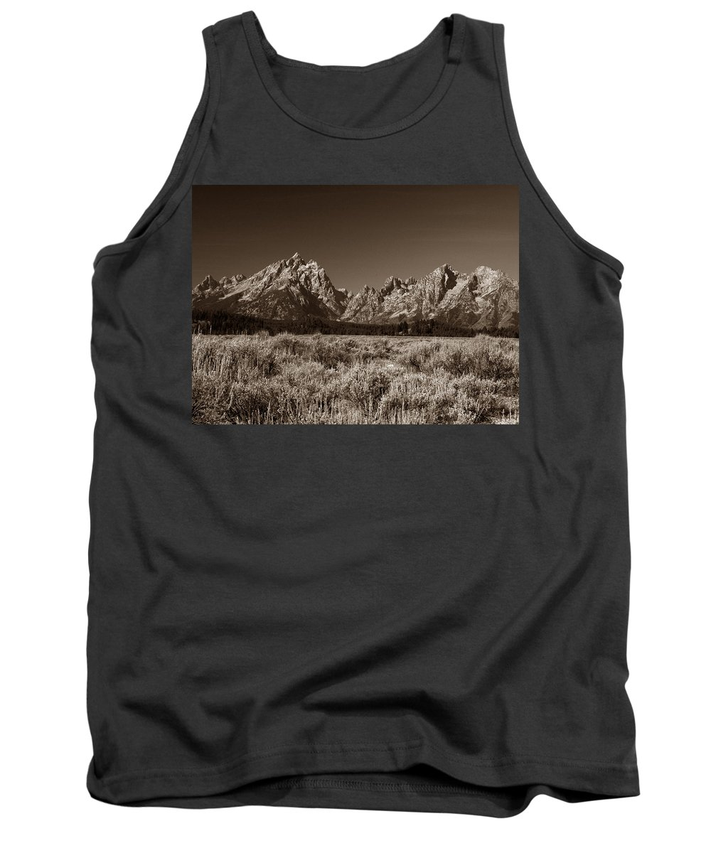 Tetons Tank Top featuring the photograph Sagebrush And Tetons by Michael Kirk