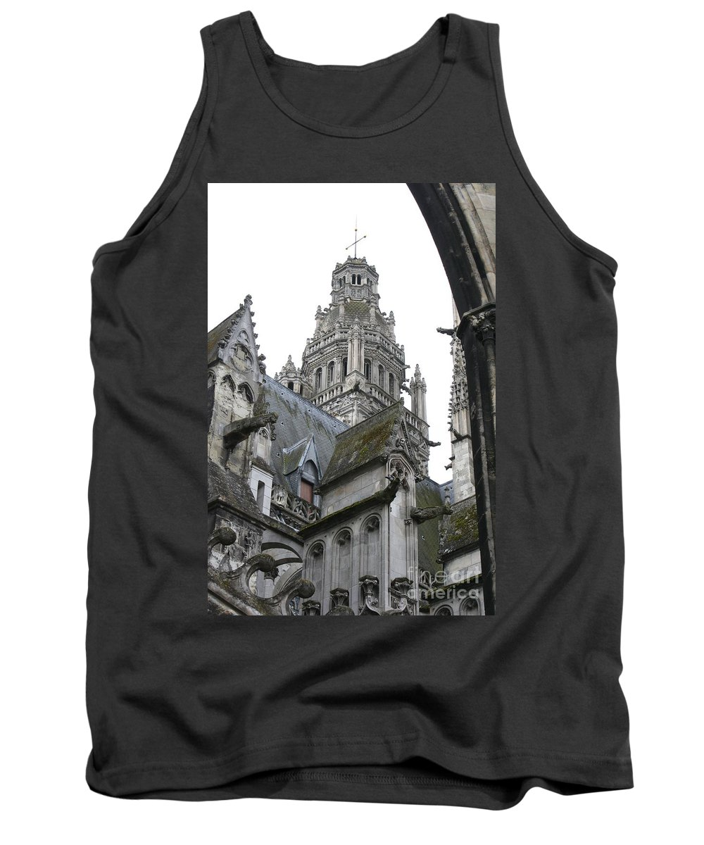 Cathedral Tank Top featuring the photograph Saint Gatien's Cathedral Steeple by Christiane Schulze Art And Photography