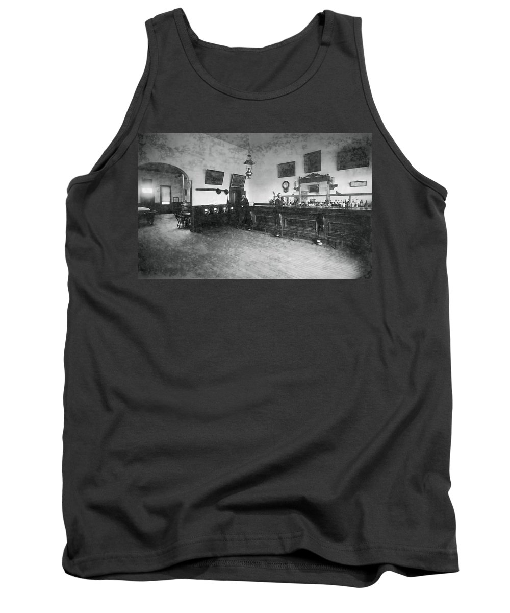 Saloon Tank Top featuring the photograph Saloon C. 1890 by Daniel Hagerman