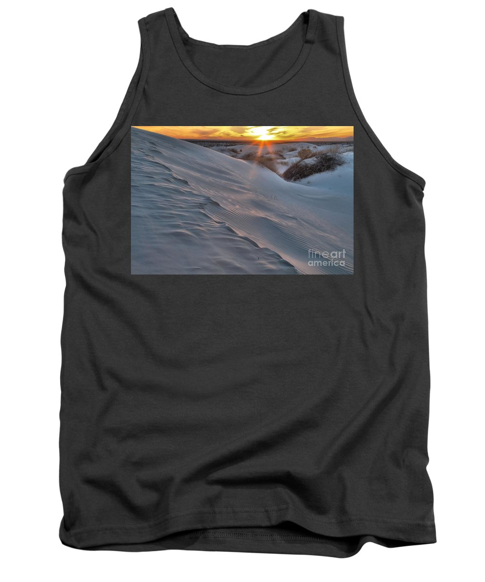 Guadalupe Mountains National Park Tank Top featuring the photograph Salt Basin Sunset by Adam Jewell