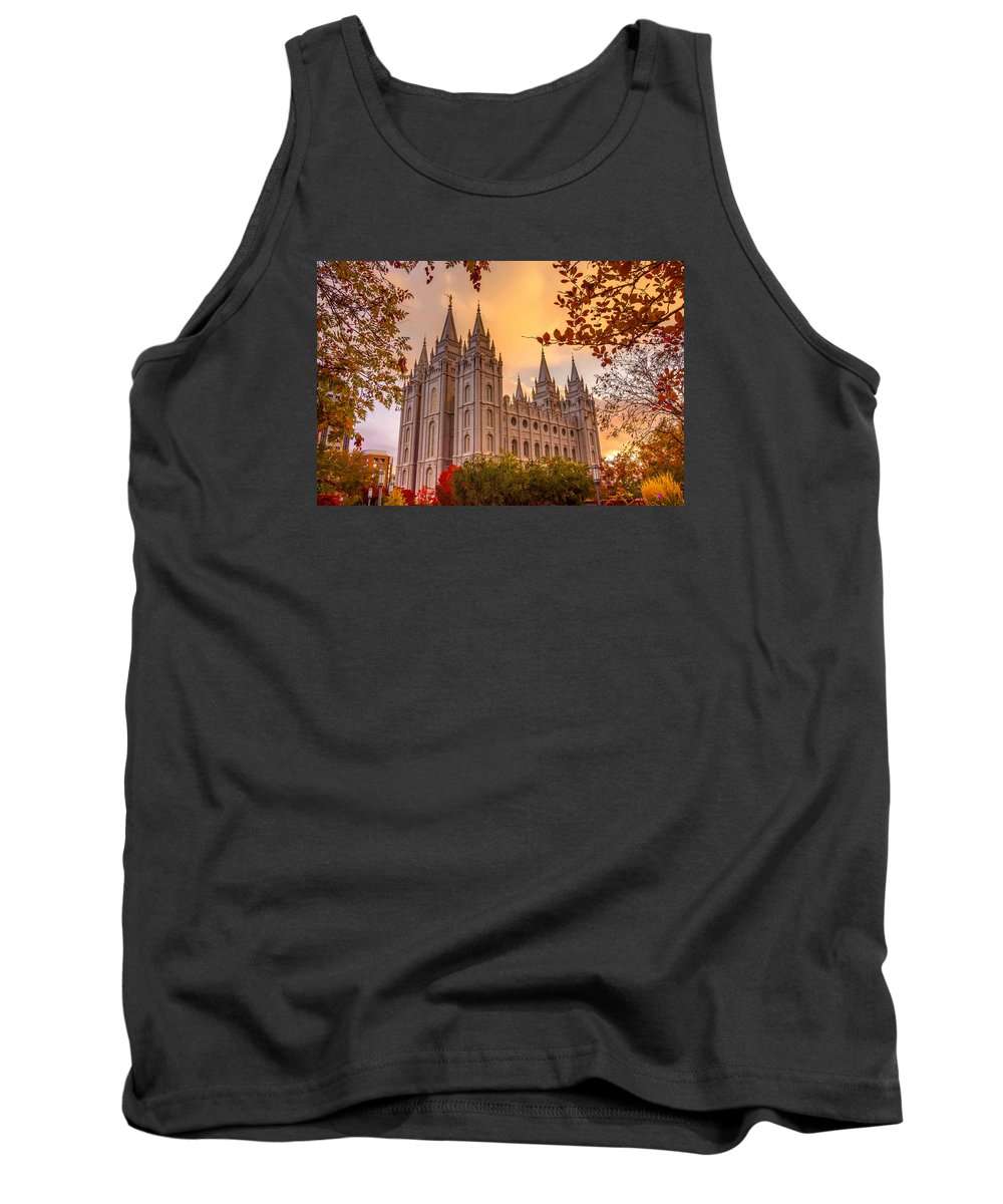 Salt Lake City Temple Tank Top featuring the photograph Salt Lake City Temple by Emily Dickey