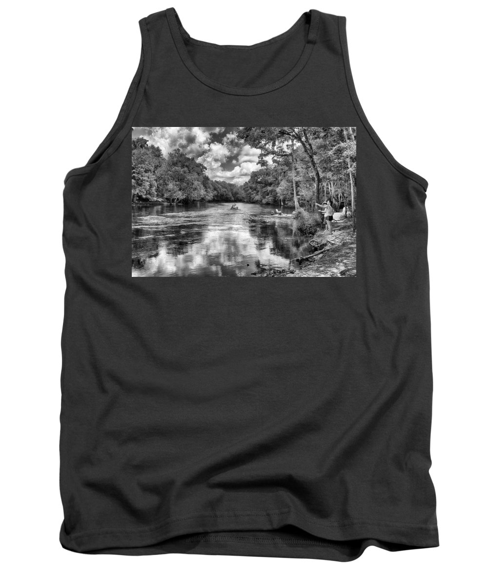 Tank Top featuring the photograph Santa Fe River Park by Howard Salmon
