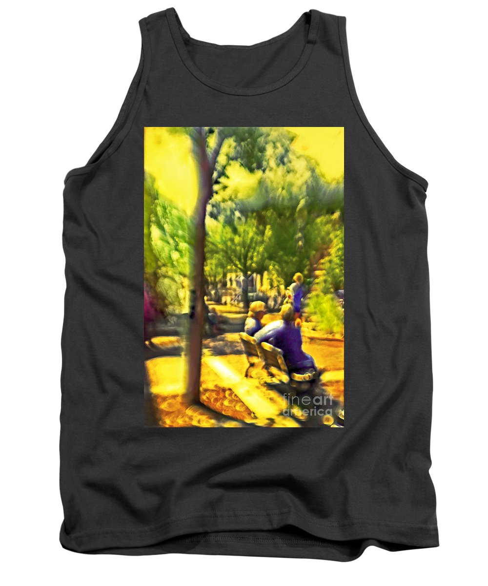 People Tank Top featuring the photograph Saturday Afternoon by Madeline Ellis