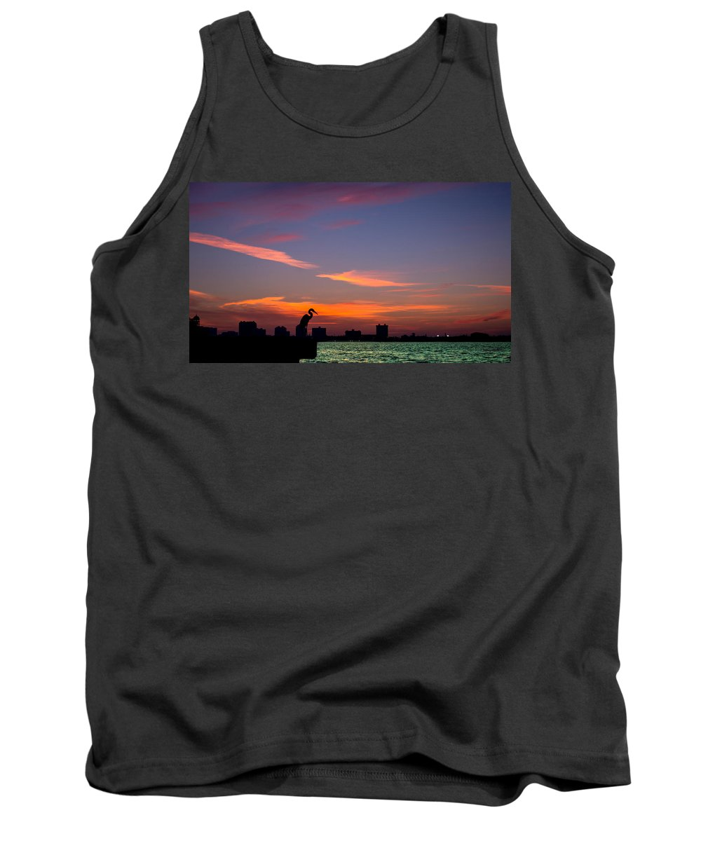 Sunrise Tank Top featuring the photograph Scarlet Fire by Along The Trail