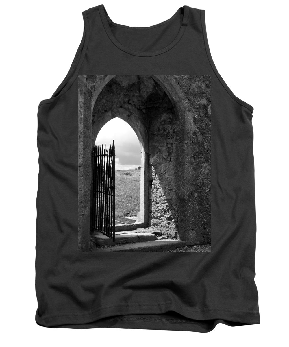 Black And White Tank Top featuring the photograph Scenic Portal 1 by Denise Mazzocco