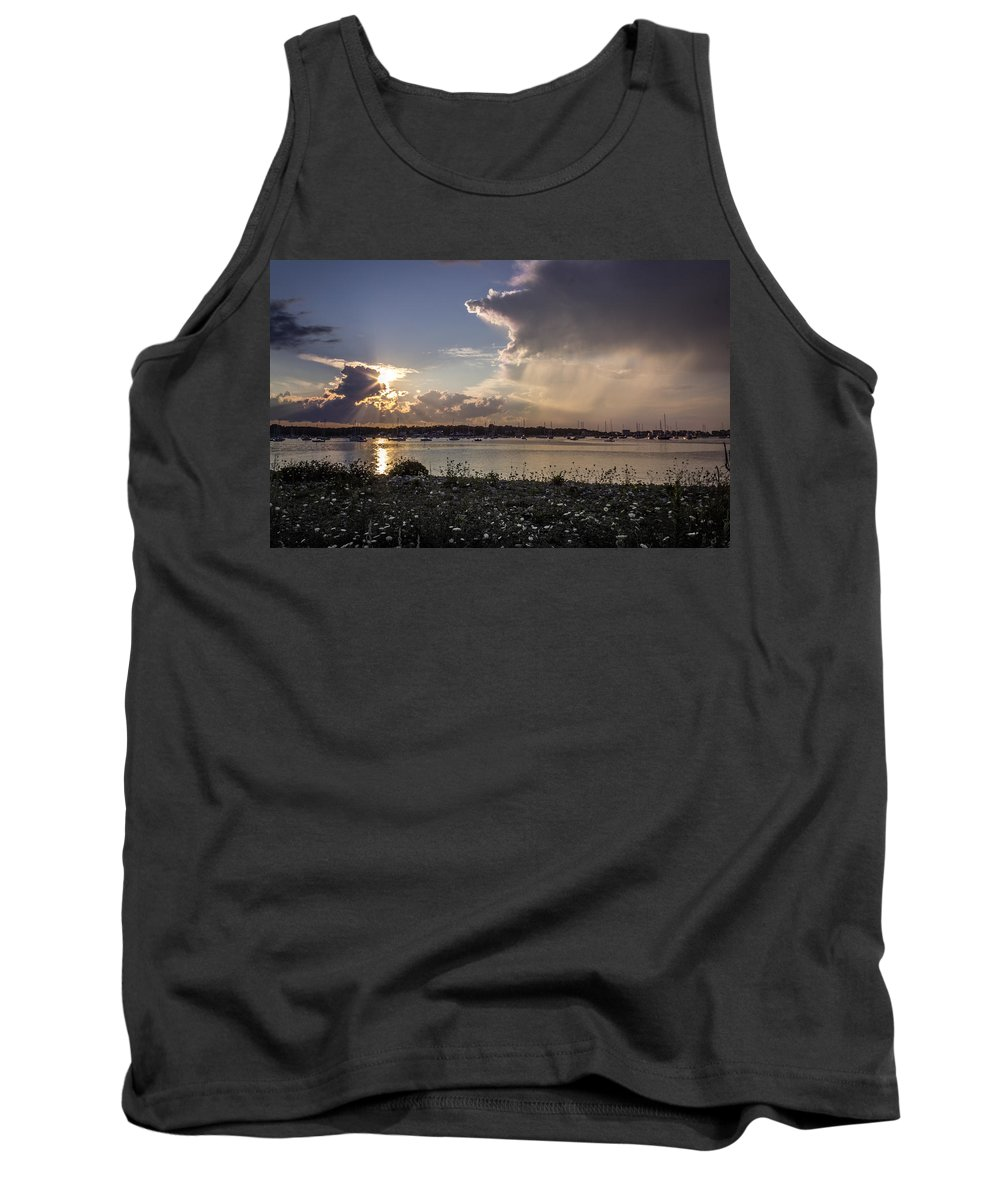 Tank Top featuring the photograph Scituate Harbor Ma by Dave Simmer