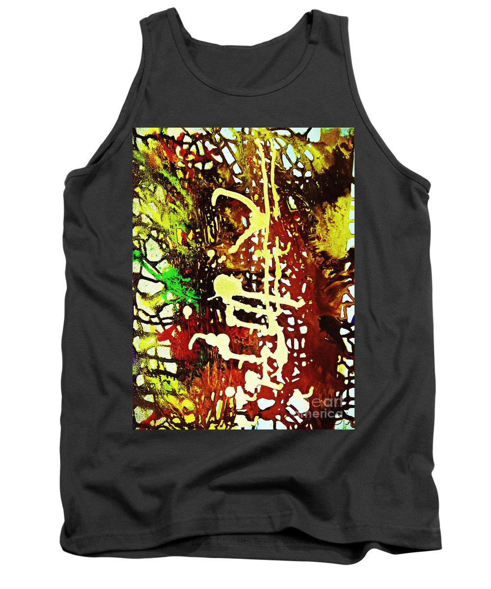 Amber Tank Top featuring the painting Scrawled by Kusum Vij