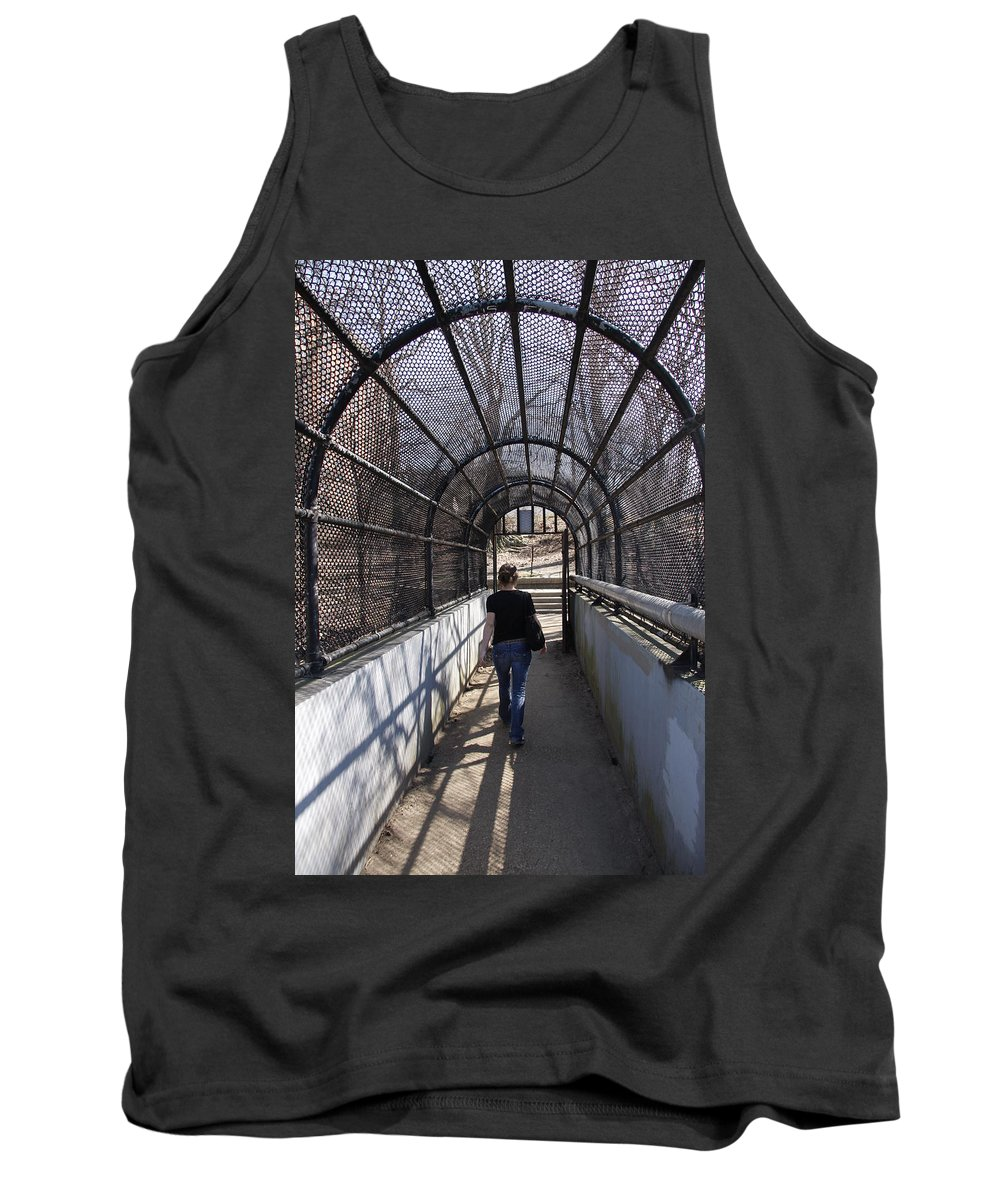 Walk Tank Top featuring the photograph Screen Walk by Debby Zimmerman