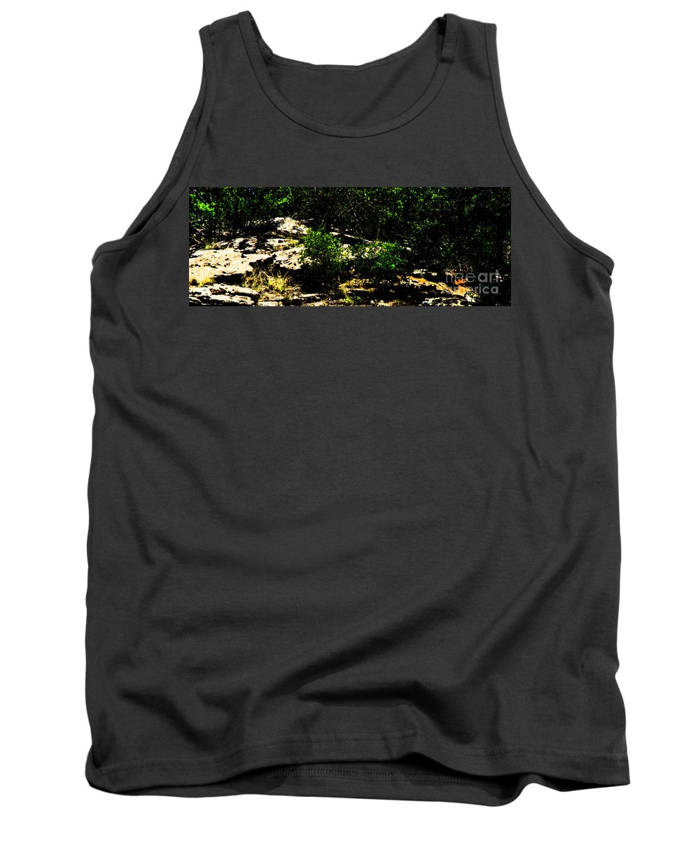 Ron Tackett Tank Top featuring the photograph Scrubland Texas by Ron Tackett