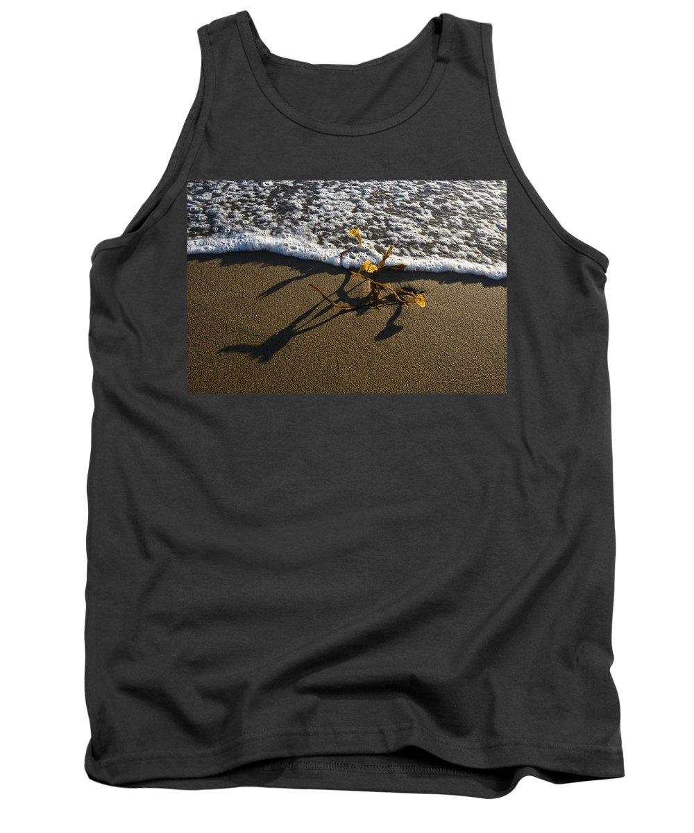 Sea Weed Tank Top featuring the photograph Sea Weed And A Wave by Vishwanath Bhat