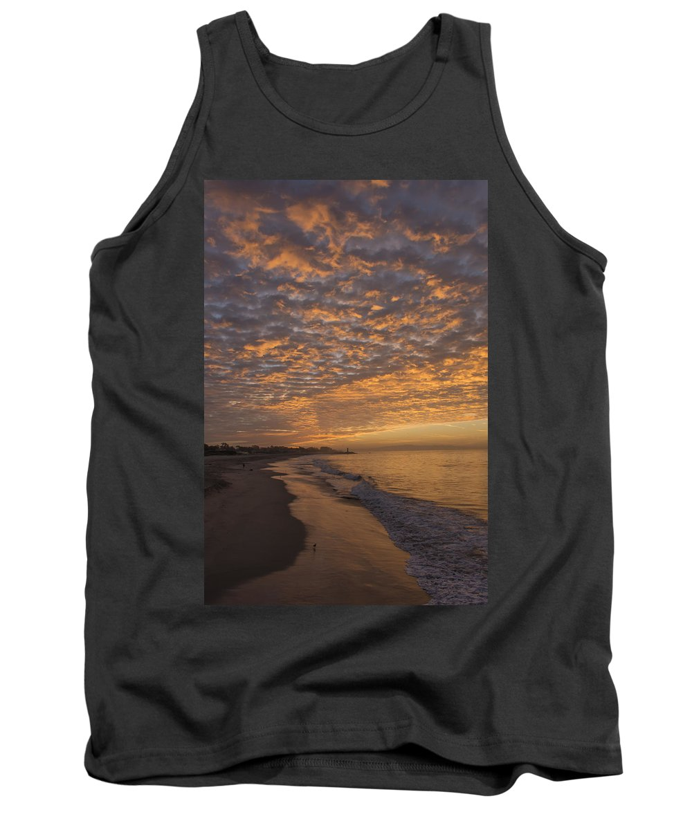 Sunrise Tank Top featuring the photograph Seabright Sunrise by Bruce Frye