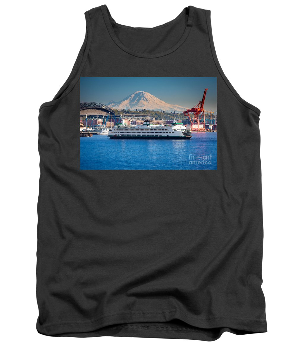Seattle Tank Top featuring the photograph Seattle Harbor by Inge Johnsson