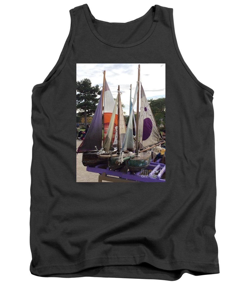 Sailboats Tank Top featuring the photograph Seaworthy Veterans by Barbara Chase
