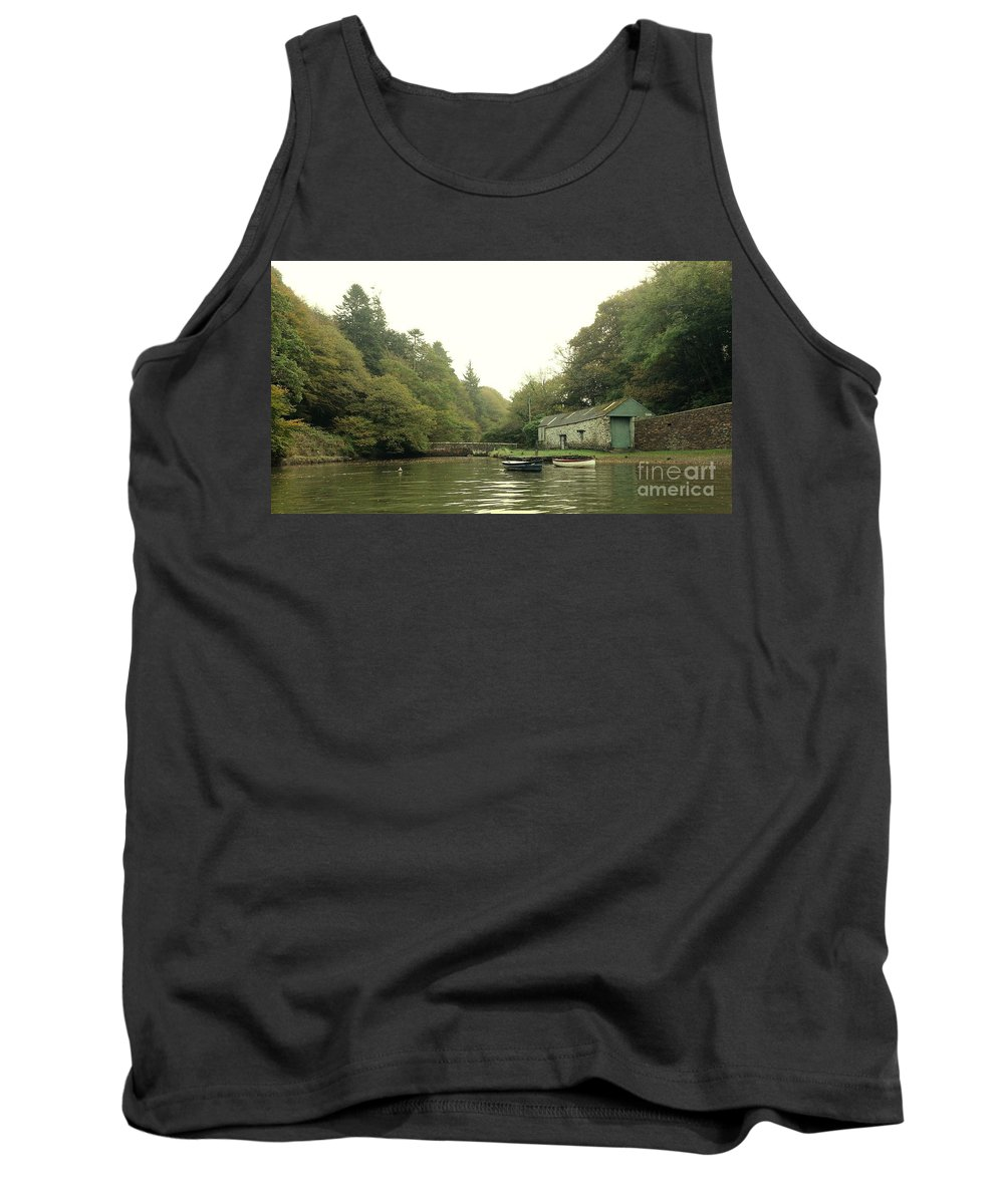 Boathouse Tank Top featuring the photograph Secret Boathouse by Lisa Byrne