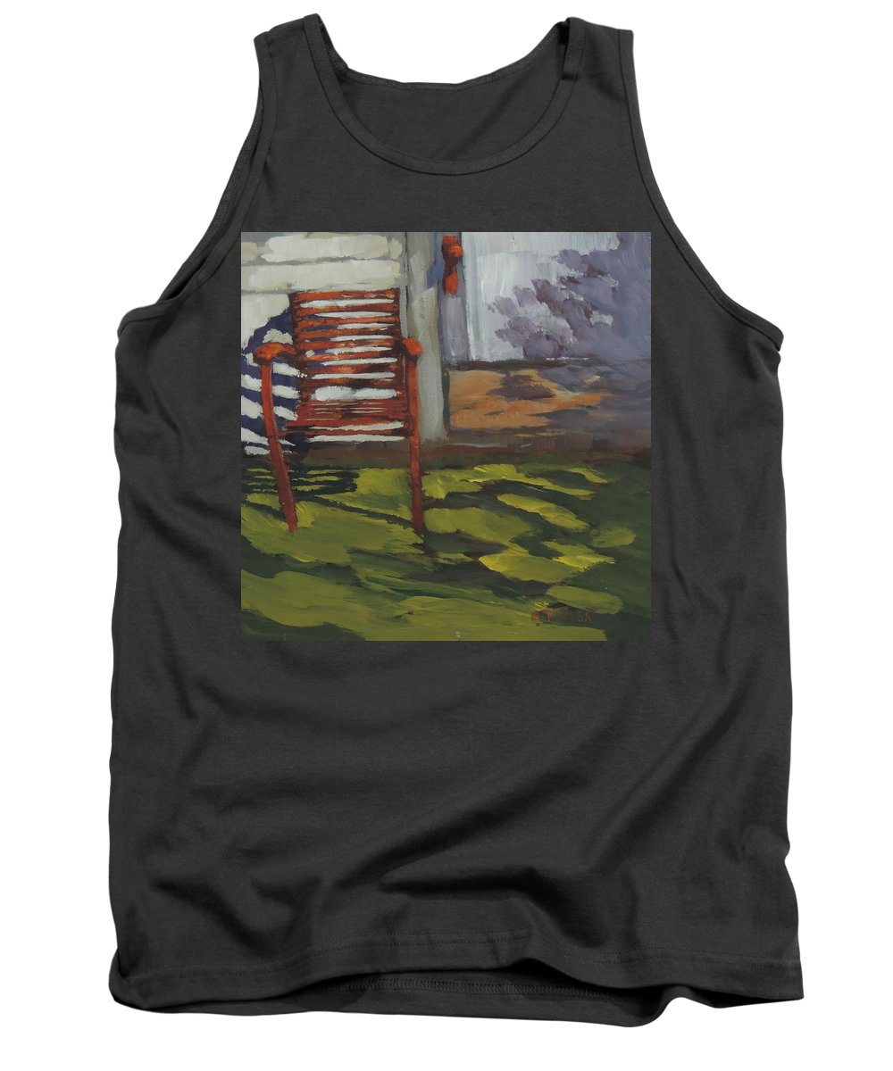 Seen Better Days Tank Top featuring the painting Seen Better Days - Art By Bill Tomsa by Bill Tomsa