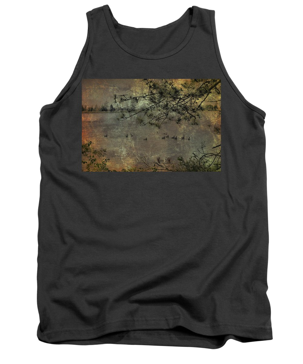 Evie Tank Top featuring the photograph Seney Wildlife At Dusk by Evie Carrier