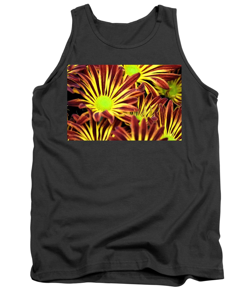 September's Radiance In A Flower Tank Top featuring the photograph September's Radiance In A Flower by Maria Urso