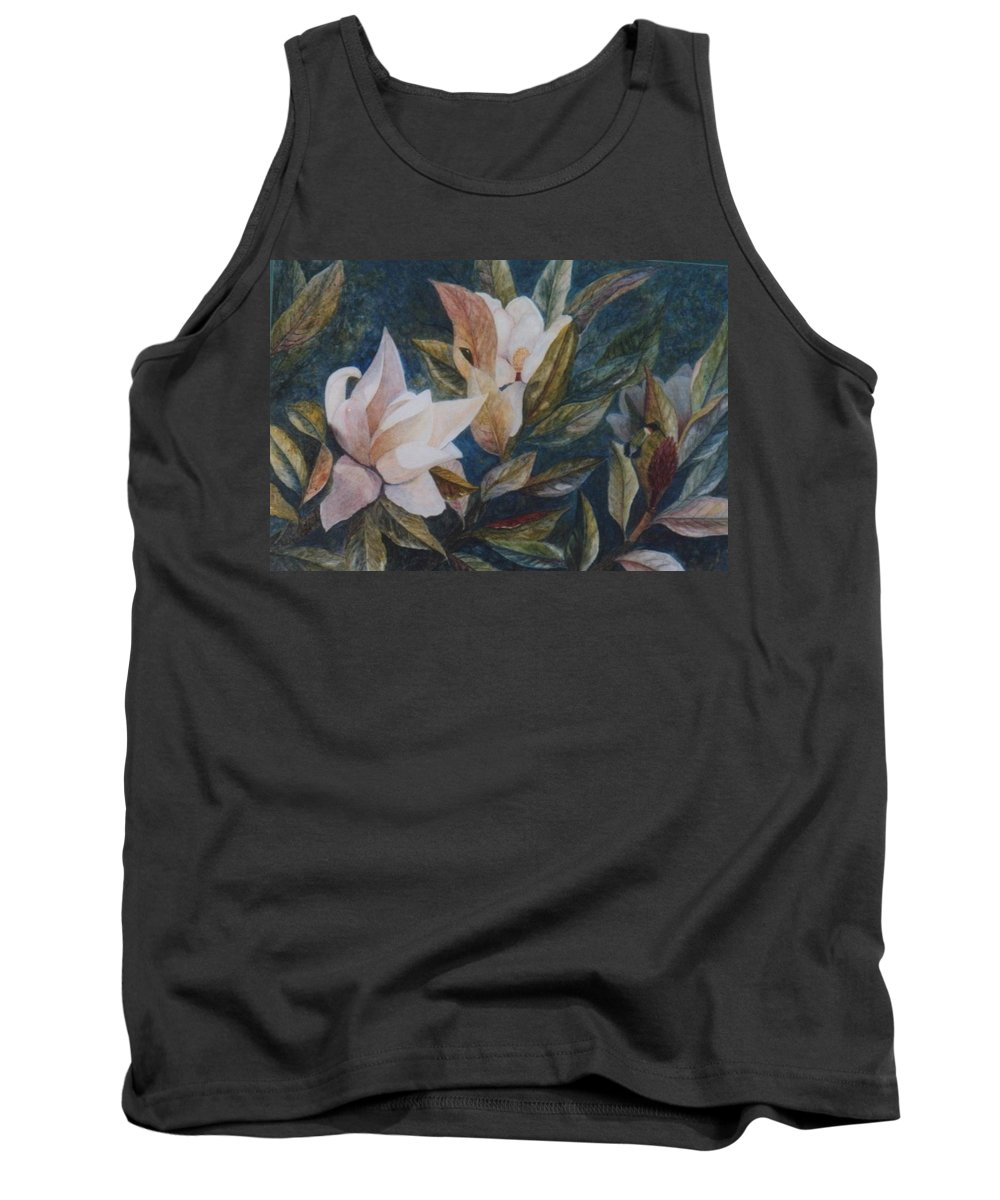 Magnolias; Humming Bird Tank Top featuring the painting Serenity by Ben Kiger